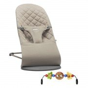 Babybjorn BABYBJÖRN - Bouncer Bliss - Sand grey + Toy šūpuļkrēsls