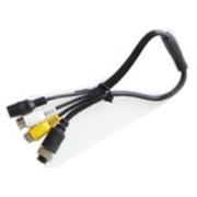 4 PIN Female to RCA (Video)female + RCA(Audio) female + DC female kabelis  8.95