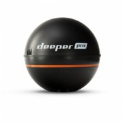 Deeper Smart Fishfinder Sonar Pro, Wifi for iOS, Android Black DP1H20S10