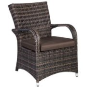 Home4You Chair Wicker 5 Dark Brown  134.69