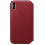Apple iPhone XS Max Leather Folio - (PRODUCT)RED (