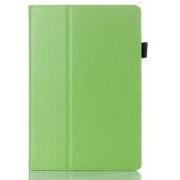 Nav noteikts Green Lychee Grain Textured Leather Case Stand for Lenovo IdeaTab A10-70 A7600 - sāniski atverams maciņš ar stendu (ādas maks, grāmatiņa, leather book wallet case cover stand) 9606