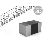 ROYAL OHM Resistor: thick film; SMD; 0402; 3.32kΩ;