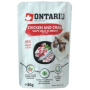 ONTARIO Pouch Chicken and Crab in Broth - konservi