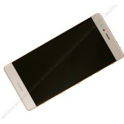 Front cover with touch screen and LCD display + battery Huawei P9 - gold (original) - 02350SHB