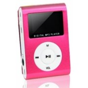 Setty Metal Clip MP3 FM Radio Pink (GSM014540)