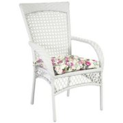 Home4You Chair Wicer White  134.69