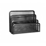 The stand for mail Forpus, black, section 3, perforated metal 1006-105