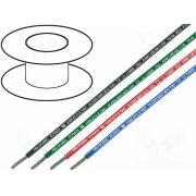 HELUKABEL - HELUKABEL 63504, Wire; UL1007,CSA TR 64; stranded; Cu; 26AWG; red; PVC; 300V; Class:5 - UL1007AWG26-R