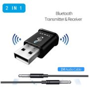 TX&RX Bluetooth 5.0 Audio Transmitter/Receiver USB Adapter for TV, PC, Car