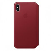 iPhone XS Max Leather Folio - (PRODUCT)RED MRX32ZM