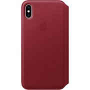iPhone XS Max Leather Folio - (PRODUCT)RED, Model