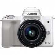 Canon EOS M50 (White) + EF-M 15-45 IS S...