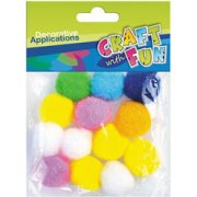 Craft With Fun Decorative Applications Pom Poms 339088 (339088)  0.74