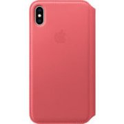 APPLE iPhone XS Max Leather Folio - Peony Pink, Mo