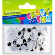 Craft With Fun Decorative Applications 80pcs 290499 (5901350207765)  0.76