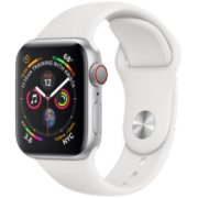 apple watch series 4 40mm silver aluminum white sport band