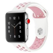 Handodo iWatch 1/2/3 38mm Double Silicone Band Whi