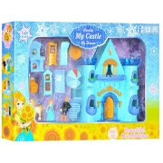 Blue ice castle with music furniture horses CB688-