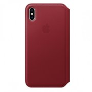 Apple iPhone XS Max Leather Folio - (PRODUCT)RED M