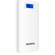 Power Bank, 72Wh, LCD display, 2.1A, Li-Ion 20 000 mAh A-DATA white / ADATA-467 AP20000D-DGT-5V-CWH