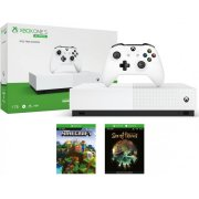 Microsoft Xbox One S All-Digital Edition 1TB + Minecraft and Sea of Thieves Game Console Pack, White NJP-00058