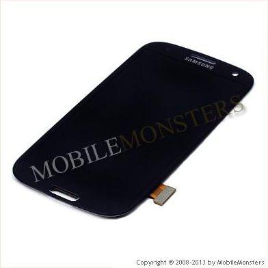 LCD Displejs priekš Samsung i9300 Galaxy S III (S3) ar Skārienjūtīgo un Aizsardzības stiklu *Atjaunots* Zils