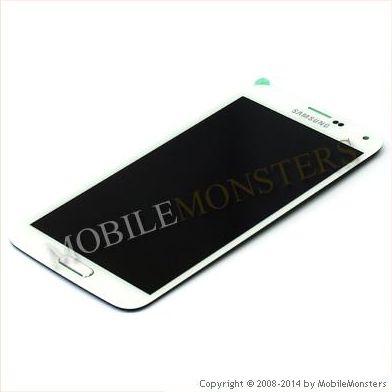 LCD Displejs priekš Samsung G900F Galaxy S5 ar Skārienjūtīgo un Aizsardzības stiklu Balts