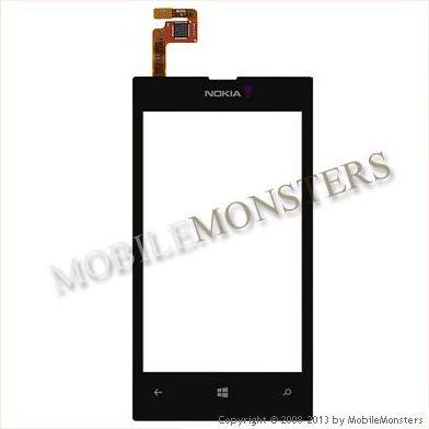 Skārienjūtīgais ekrāns Nokia 520 Lumia Melns